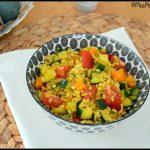céréales aux légumes et curcuma 2C