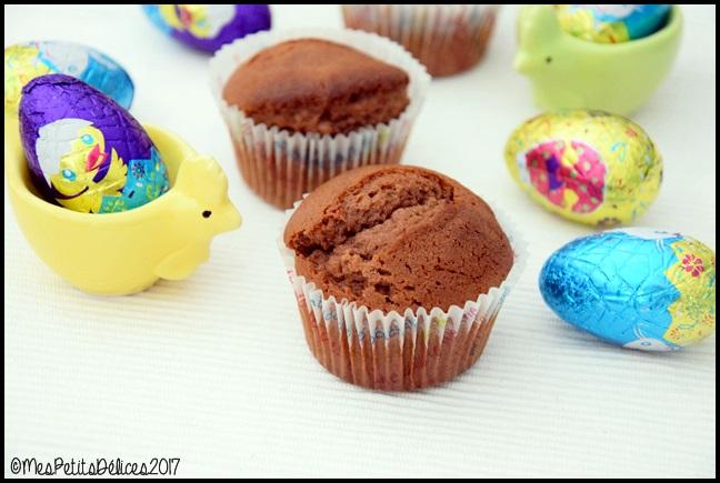 muffins au chocolat au lait 1C Muffins au chocolat au lait post Pâques