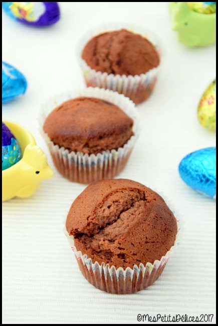 muffins au chocolat au lait 2C Muffins au chocolat au lait post Pâques