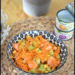salade carotte concombre touche de maïs et de pois-chiches 1C