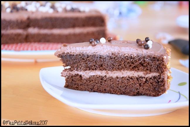 Gâteau au chocolat ganache mascarpone cacao et fève tonka 5C Gâteau au chocolat, ganache mascarpone, cacao et fève tonka