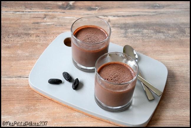 crème soja chocolat tonka 3C Crèmes dessert au chocolat et fève tonka {sans gluten, sans lactose}