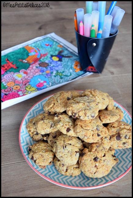 cookies noisette chocolat 3C Cookies à la noisette et aux pépites de chocolat