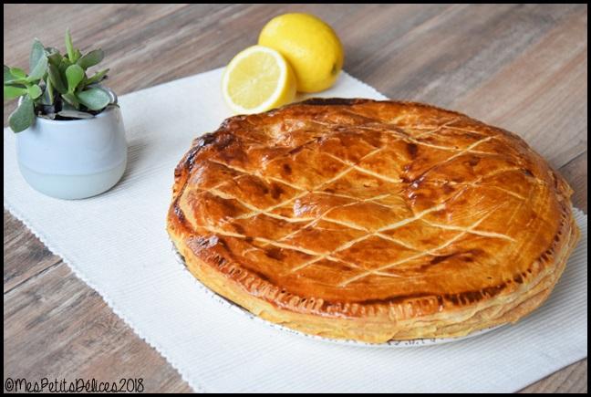 galette lemon curd 2C Galette des rois au citron