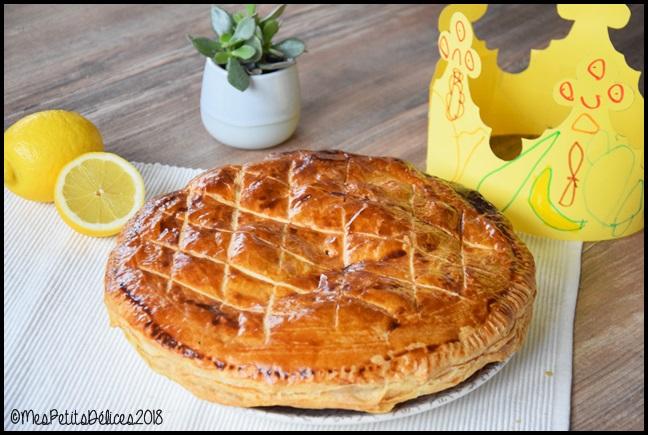 galette lemon curd 6C Galette des rois au citron