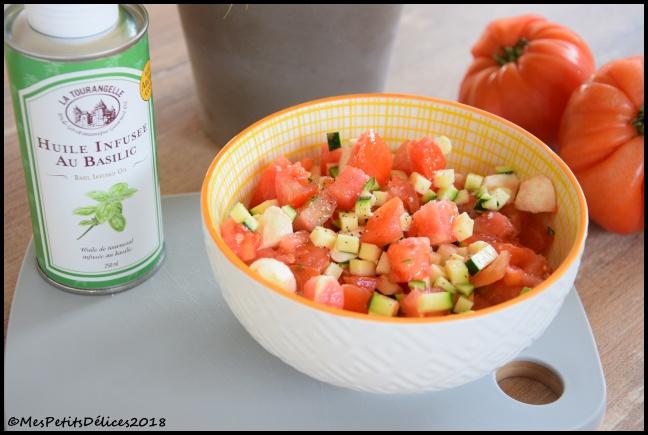 salade tomate courgette 2C Salade de tomate, courgette et mozzarella