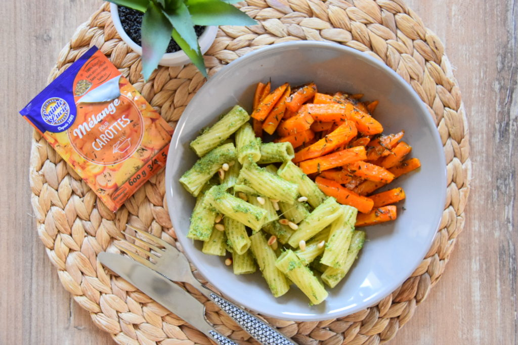 DSC 0044 1024x683 Pâtes au pesto de fanes de carottes et carottes rôties