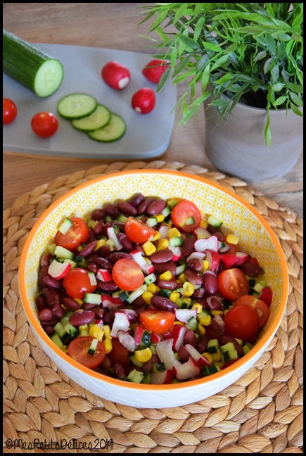 salade haricots rouges 1C Salade aux haricots rouges