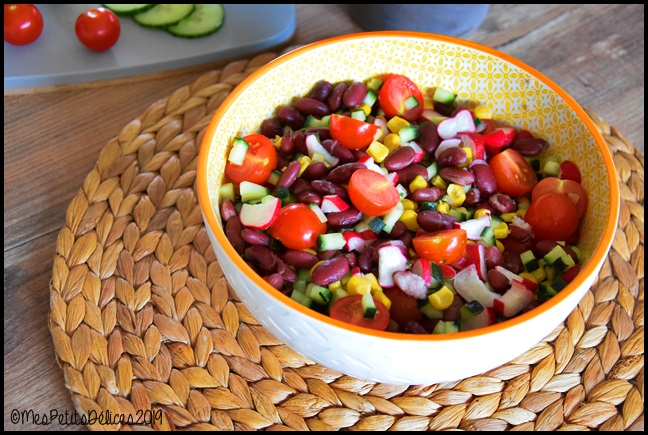 salade haricots rouges 2C Salade aux haricots rouges
