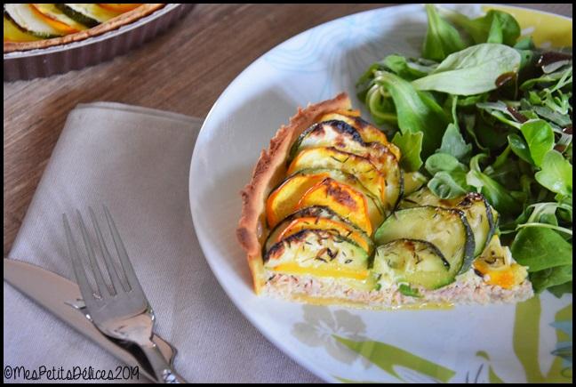 tarte thon courgettes 2C Tarte au thon et aux courgettes