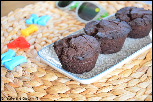Muffins très chocolatés 2C Muffins au cacao amer
