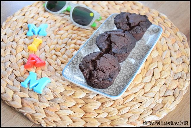 Muffins très chocolatés 3C Muffins au cacao amer