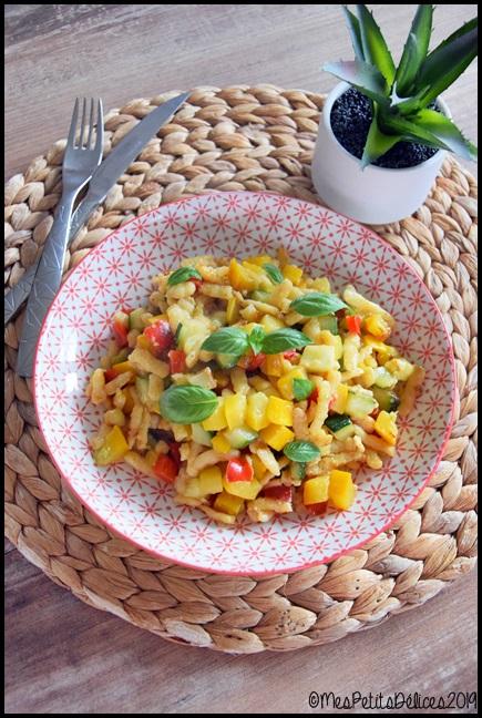 knepfle courgette poivron 1C Knepfles aux courgettes et au poivron