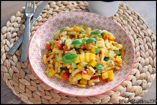 knepfle courgette poivron 3C Knepfles aux courgettes et au poivron