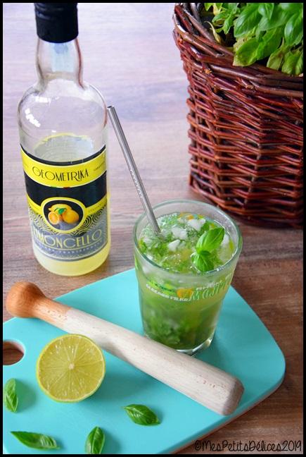 mojito limoncello basilic 1C Mojito au limoncello et basilic