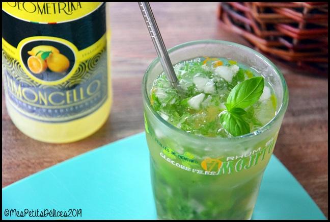 mojito limoncello basilic 2C Mojito au limoncello et basilic