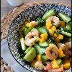 salade concombre crevette mangue thaïe 3C