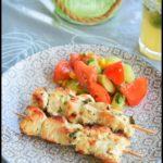 brochettes poulet mariné citron vert coriandre gingembre 2C