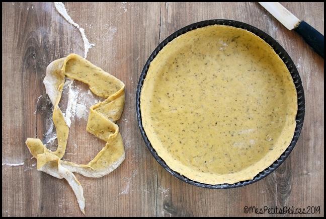 pâte à tarte huile dolive herbes de pvce 1C Pâte brisée à lhuile dolive et herbes de Provence