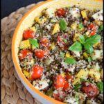 salade courgette quinoa mozza tomates cerises 1C