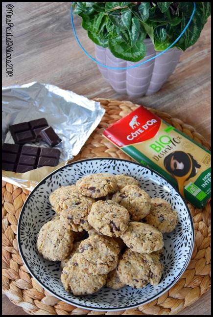 cookies flocons avoine chocolat 1C Cookies aux flocons davoine et chocolat