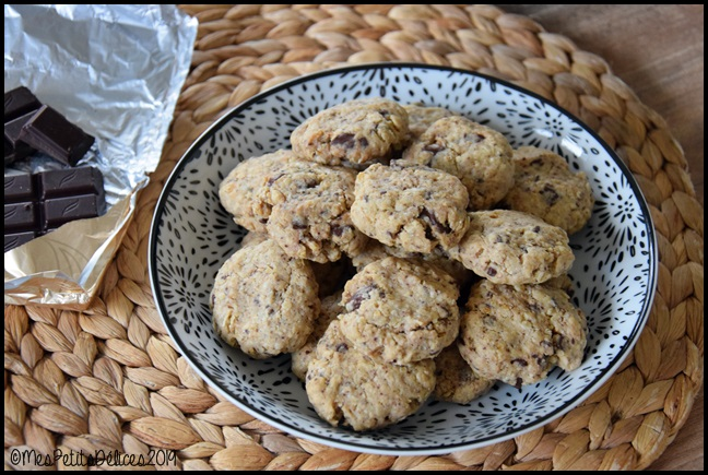 cookies flocons avoine chocolat 2C Cookies aux flocons davoine et chocolat