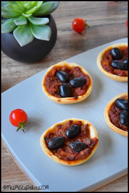 minis pizzas bolognaise 1C Minis pizzas bolognaise