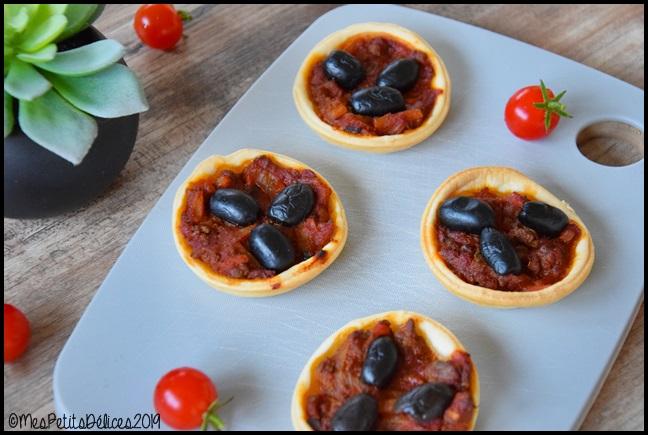 minis pizzas bolognaise 2C Minis pizzas bolognaise