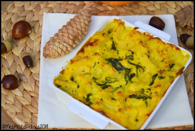 gratin légumes dautomne 3C Gratin de macaronis au potimarron