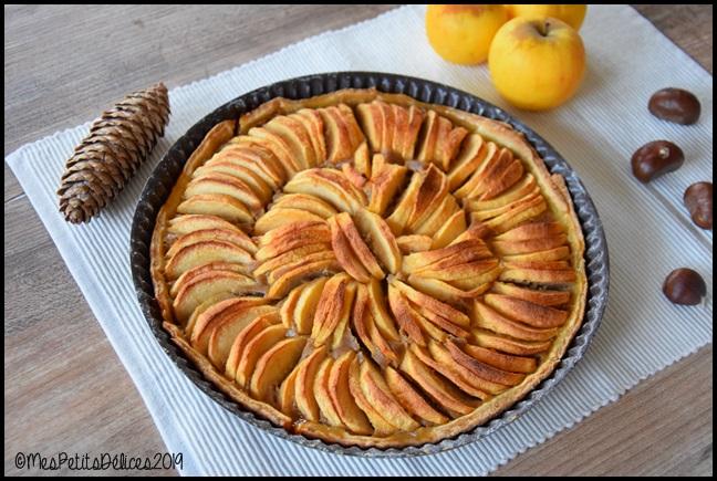 tarte pommes crème de marrons 1C Tarte aux pommes à la crème de châtaignes