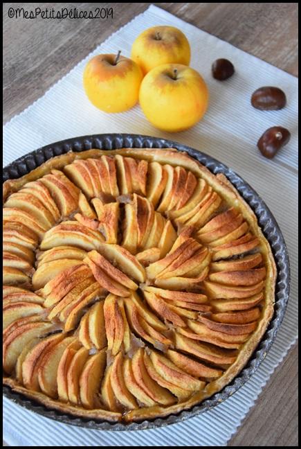 tarte pommes crème de marrons 2C Tarte aux pommes à la crème de châtaignes