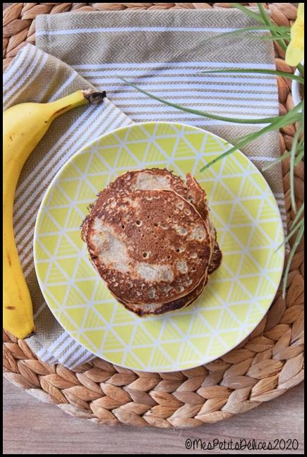 pancakes ss à la banane 1C Pancakes à la banane #defisanssucre2020
