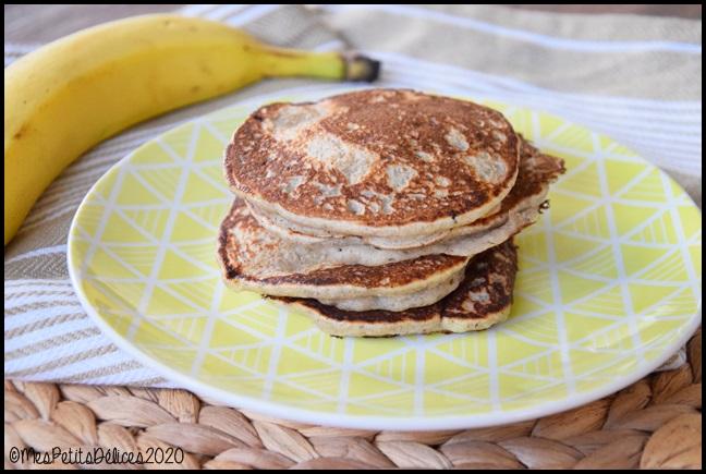 pancakes ss à la banane 5C Pancakes à la banane #defisanssucre2020