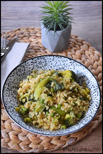 blé aux légumes verts 1C Blé aux légumes verts façon One Pot