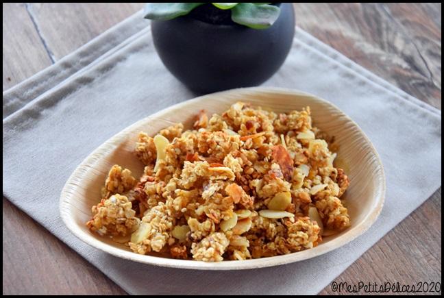 granola sans sucre 2C Mon petit déjeuner sans sucres libres (+ recette)