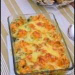 gratin patate douce épinards 1C