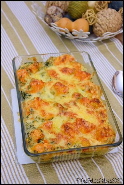 gratin patate douce épinards 1C Gratin de patate douce et épinards au Comté
