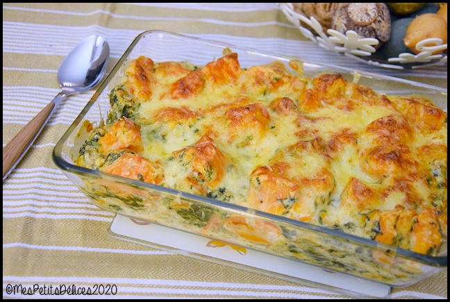 gratin patate douce épinards 2C Gratin de patate douce et épinards au Comté