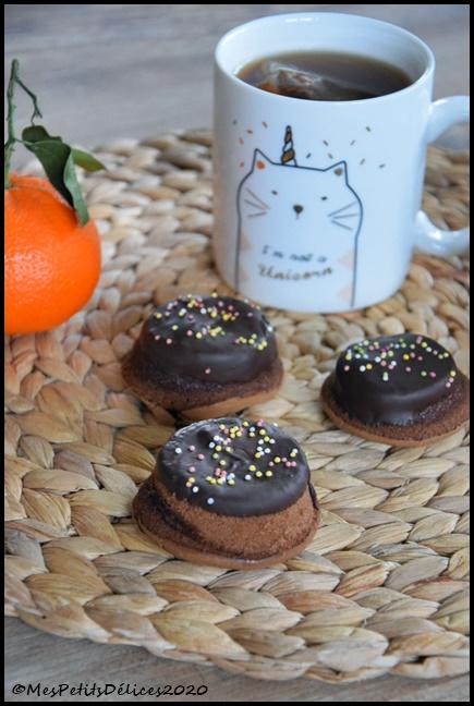 mini fondants chocolat nappés 1C Mini fondants au chocolat nappés
