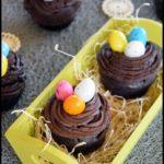 cupcakes chocolat nids de pâques 1C