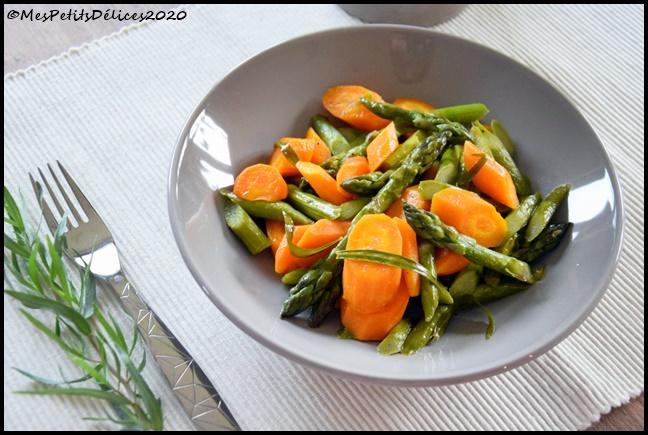 poelée carotte asperge estragon 1C Poêlée de carottes et asperges à lestragon