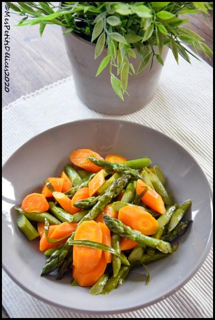 poelée carotte asperge estragon 2C Poêlée de carottes et asperges à lestragon