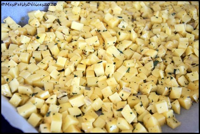 dés de PDT rôties au four 1C Dés de pomme de terre rôtis au four