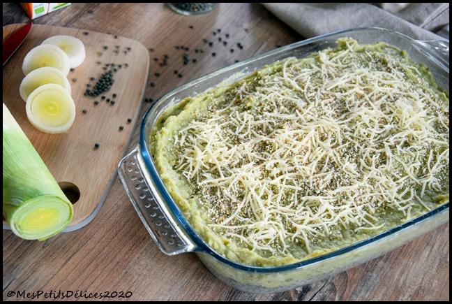gratin façon parmentier lentilles légumes verts 2C Gratin façon parmentier lentilles & légumes verts