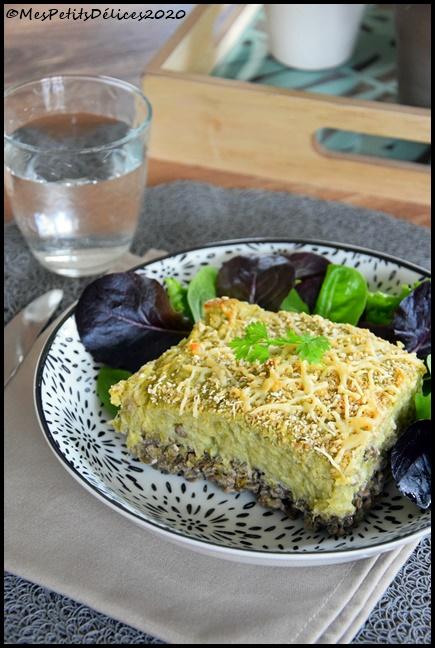 gratin façon parmentier lentilles légumes verts 5C Gratin façon parmentier lentilles & légumes verts