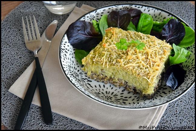gratin façon parmentier lentilles légumes verts 7C Gratin façon parmentier lentilles & légumes verts