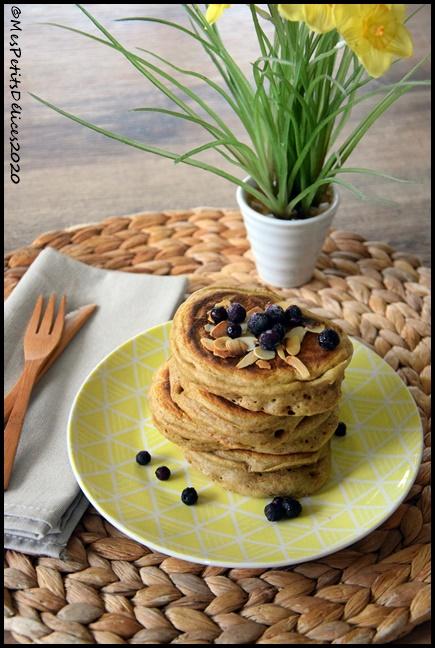 pancakes super fluffy au levain 1C Super fluffy pancakes au levain (IG bas)