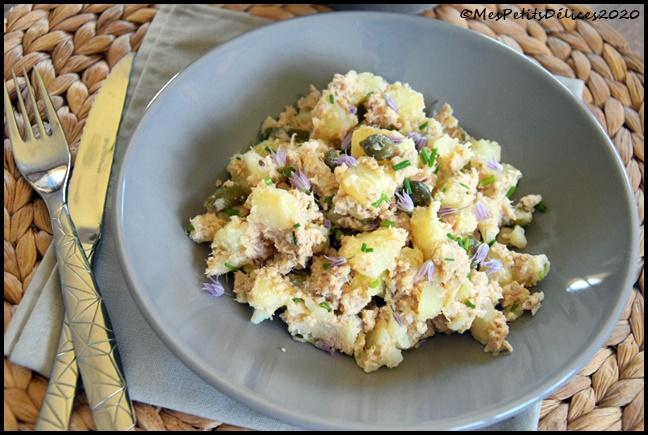 salade pdt thon 2C Salade de pommes de terre au thon