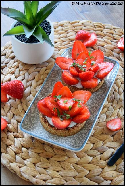 tartelettes fraises ssa ig bas 2C Tartelettes à la fraise sans sucre ajouté