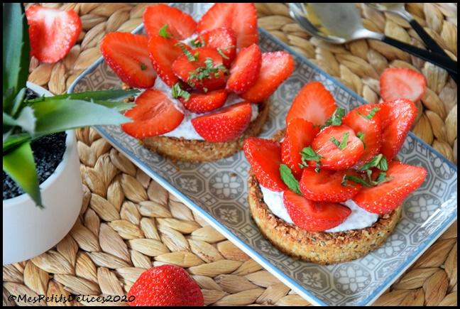 tartelettes fraises ssa ig bas 7C Tartelettes à la fraise sans sucre ajouté